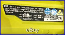 Ryobi P320 Airstrike 18 Volt One+ Lithium Ion Cordless Brad Nailer FREE SHIPPING