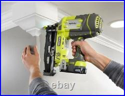 Ryobi Straight Finish Nailer 18-Volt Cordless 16-Gauge 2-1/2 in Battery Charger