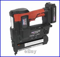 Sealey CPNG18 Cordless Nail / Staple Gun 18G Nailer Second Fix 18V Li-ion