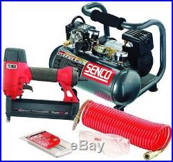 Senco Nail Gun 18-Gauge Brad Nailer And Electric Compressor Kit Coil Hose
