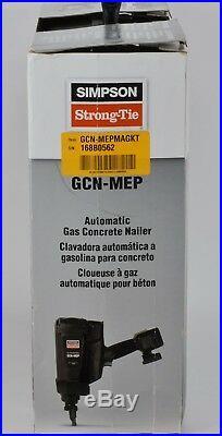 Simpson Strong-Tie Gas Actuated Concrete Nailer Nail Gun GCN-MEP, New