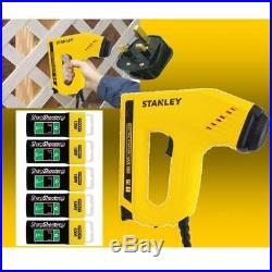 Stanley Electric Staple Nail Gun Stapler Nailer Tacker + 5000 Assorted Staples