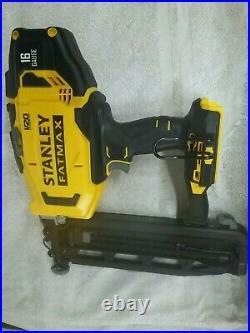 Stanley Fatmax 18v Nail Gun/Finishing Nailer 16 guage+2× 2.0ah batteries charger