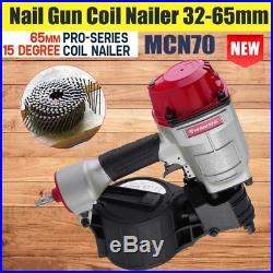 US Pneumatic MCN70 Coil Nail Gun Nailer Industrial Grade Air Tools 32-65mm Geek
