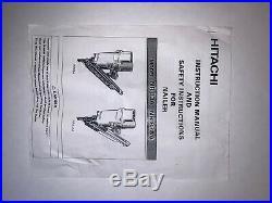 Vintage Hitachi NR 83A (NR83A) NAILER/ Nail Gun