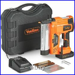 VonHaus Nail Gun & Staple Gun Cordless Electric Heavy Duty Stapler Nailer 18V