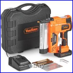 Vonhaus Nail Gun & Staple Cordless Electric Heavy Duty Stapler Nailer 18V New